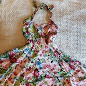 Unique Vintage Halter Swing Dress